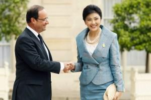 TT Pháp Hollande -Yingluck Shinawatra